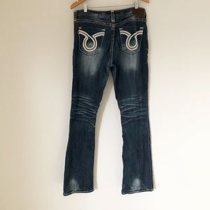 Big Star Maddie Boot faded blue jeans horseshoe 32